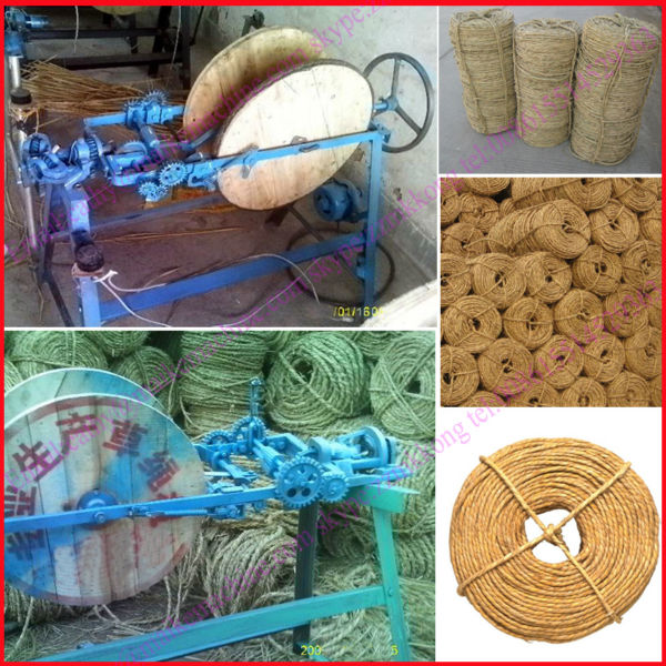factory price Rice Stalk Straw Rope Making Machine/rope making machine/008615514529363