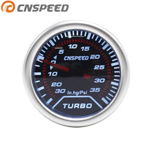 "CNSPEED 2"" (52mm) Smoke lens Turbo boost gauge -30 In.hg~35 Psi Car Gauge"