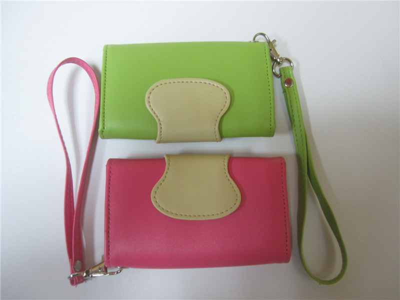 Lovely Japan&Korea Style Candy Color Ladies Hand purse/Soft Leather Clutch Bag
