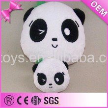 Cute emoji soft plush panda head diy stuffed toys panda