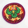 High quality custom embroidery patches sew on / iron on for clothing