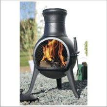 wood burning outdoor heater cast iron chimenea