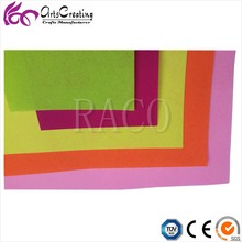neon color felt fabric for embroidery , toys ,crafts , cloth of handbag ,Christmas decorations
