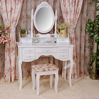 Antique wooden mirror dressing table for living room set