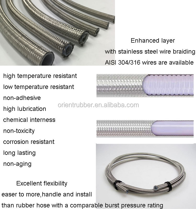 Competitive price corrugated durable PTFE hose