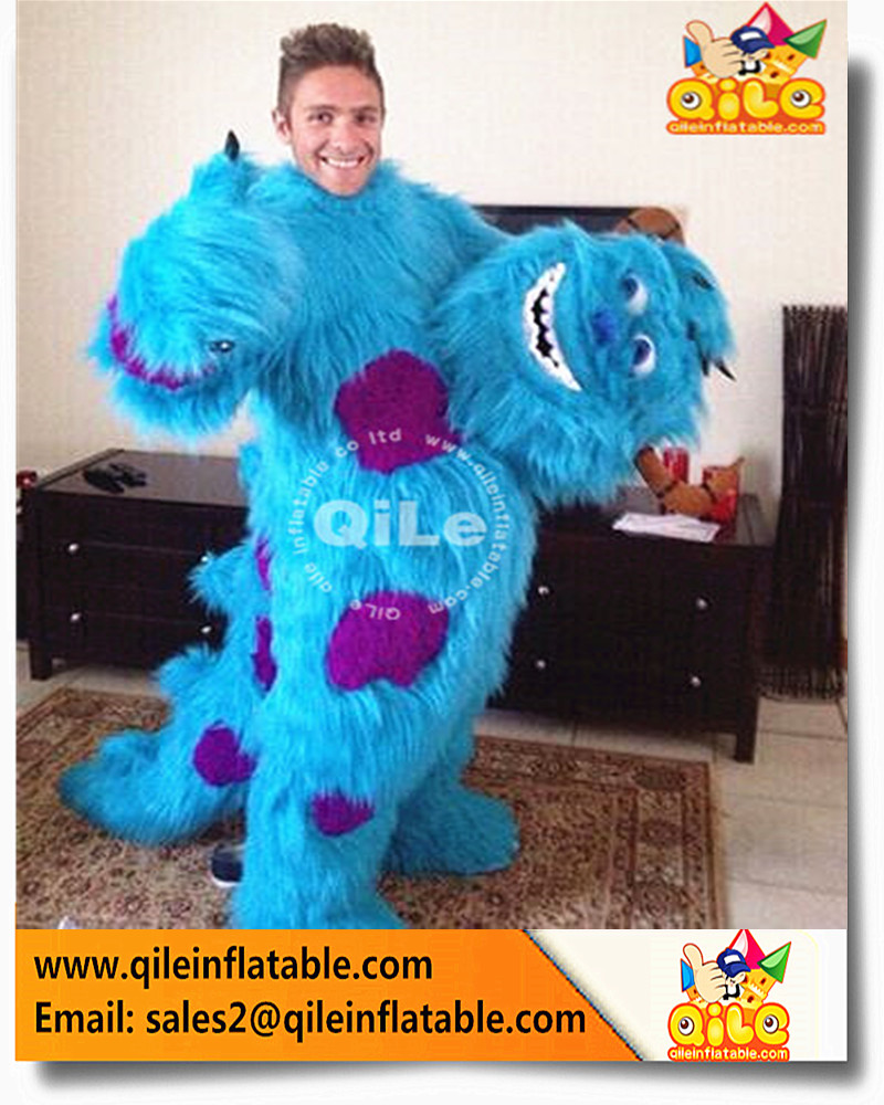 Fancy soft Monsters University Sully Mascot Costume plush Cartoon Dress outfits for adult Halloween party kids popular for sale
