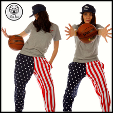 2015 Autumn American Flag Hippie Sport Pants for Women