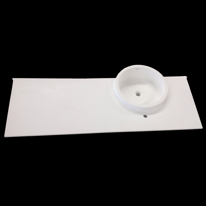 DOMO one piece single bathroom sink and countertop