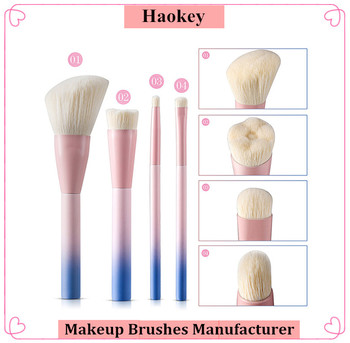NEW Arrived 4pcs Private label facial makeup brushes set