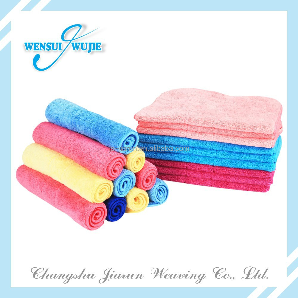Multi-color strong absorbent floor cleaning cloth wiping rags plush yoga towel wholesale