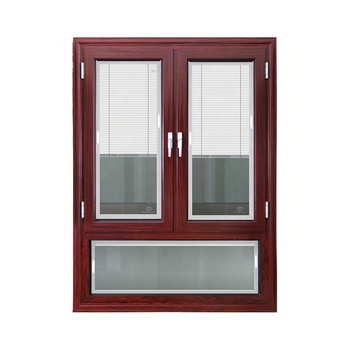 factory manufacture aluminum swing out window ,  aluminum glass casement windows with built in blinds