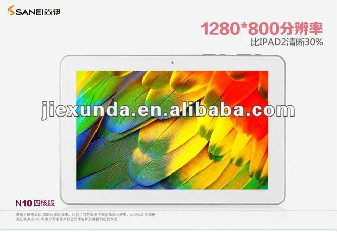 10.1'' Android 4 Tablet pc Freescale i.MX6Q 4 core 4.8GHz DDR3 1GB 16GB Bluetooth WIFI 1280*800 IPS Sanei N10 4 Core Version