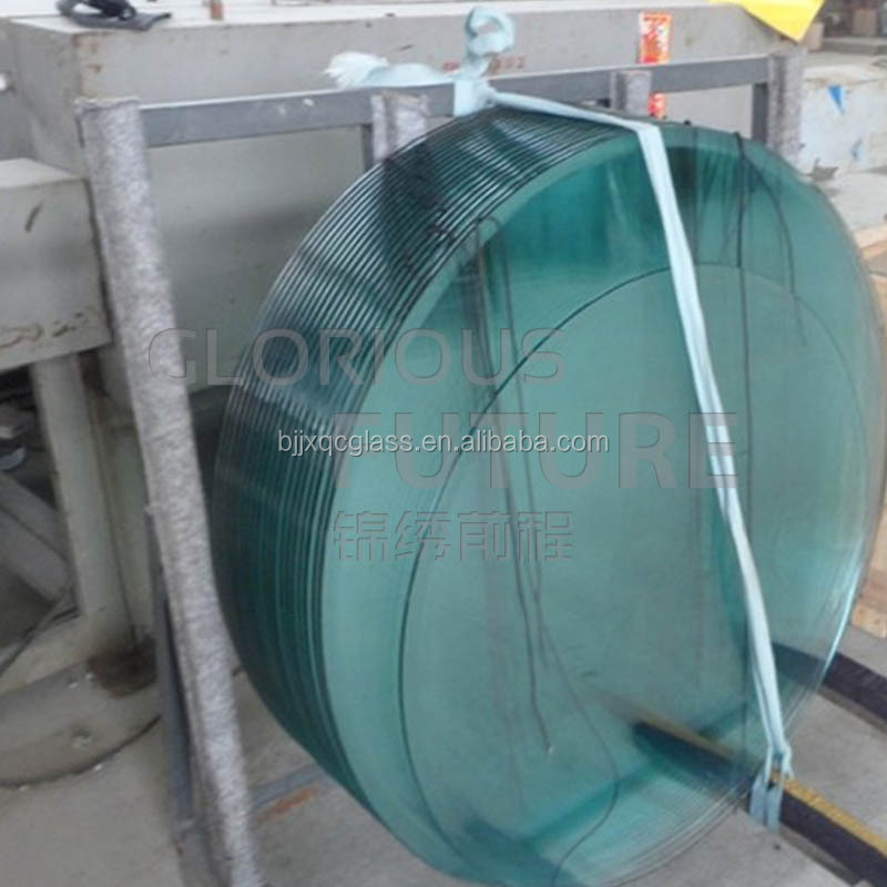 Clear float tempered round glass table top