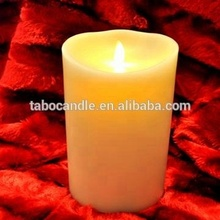 battery operated Luminara ivory pillar Candle Wax/ LED Flickering flameless candle