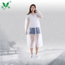 long pvc hooded rain cape poncho in bag for adults