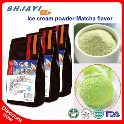 2018 New Product Matcha Flavor Hard Ice Cream Powder Mix Formula From Italy For Bubble Tea Powder Recipe