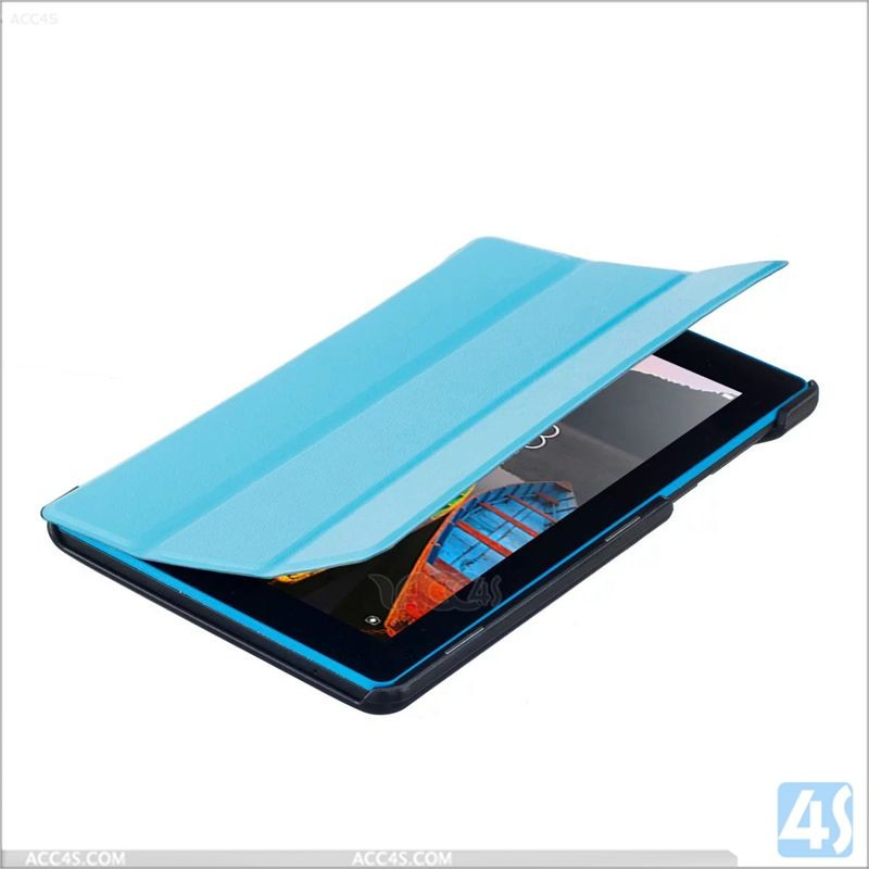 Hot selling Fashion flip tablet cover for Lenovo phone case ,Tri Fold PU Leather Case for LENOVO TAB3 7 Essential 710F