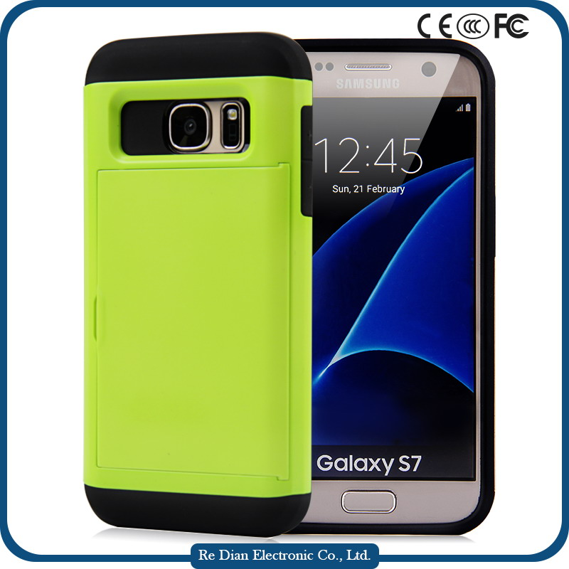 Guangzhou Factory Phone Case Cover TPU+PC Shockproof Anti-throw Durable Mobile Phone Shell for Samsung Galaxy S7