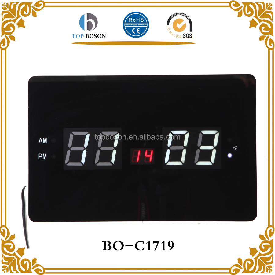 LED electric wall/desk dual purpose calendar clock in Russian