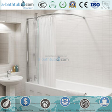 Easy Installation Tempered glass over bath screen