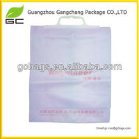 Fashionable reusable plastic po shopping bag
