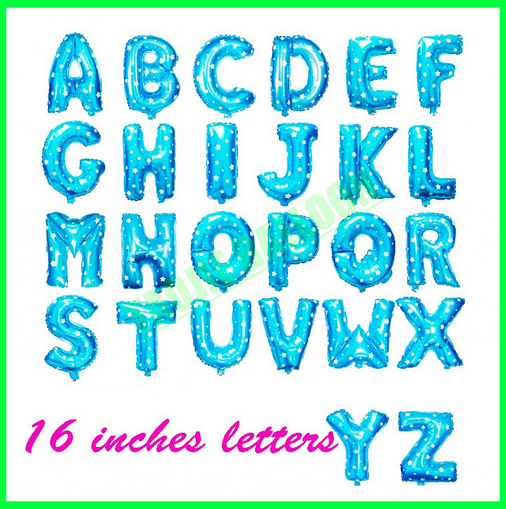 16 inches Blue Letter balloon,alphabet Balloons