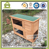 Sdpets Two Story Cheap Wooden rabbit cage SDR020