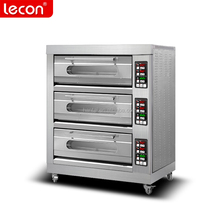 Intelligent full-automatic bread bakery oven price 3 deck 6 trays oven for pizza shop CE /Industrial bakery equipment