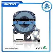 High quality 12m Black on Blue ribbon cartridge AC12BW Compatible for Epson LW label printers