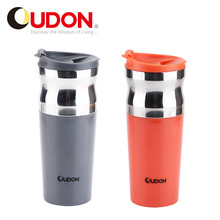 High Quality And Fancy Customized 400ml Coffee Travel Mug Rubber Lid