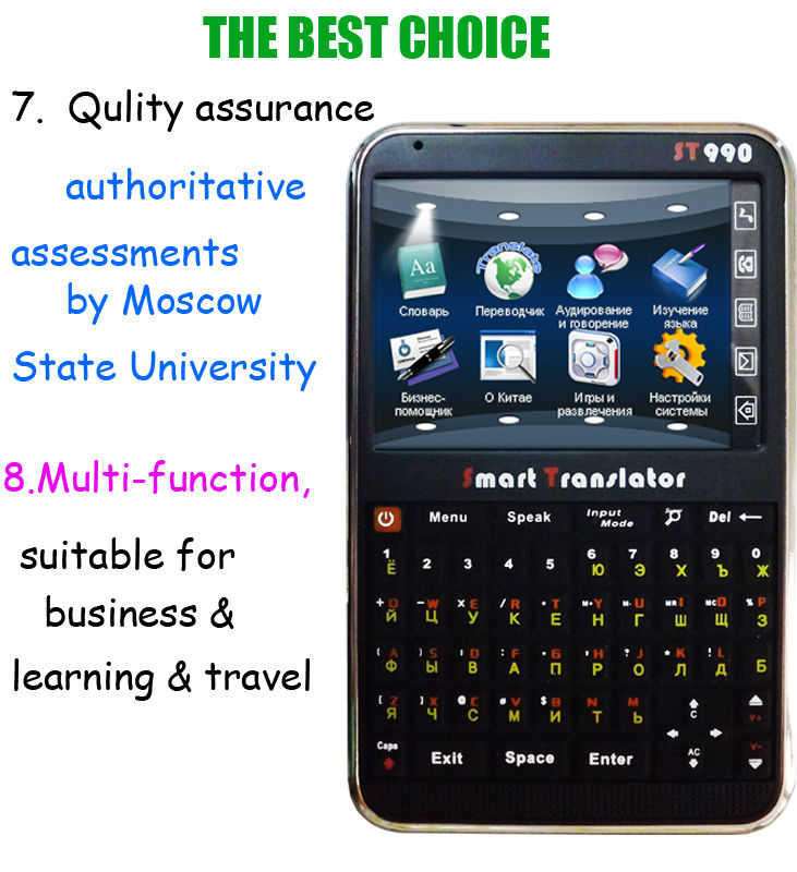 Russian English Chinese electronic dictionary for learning