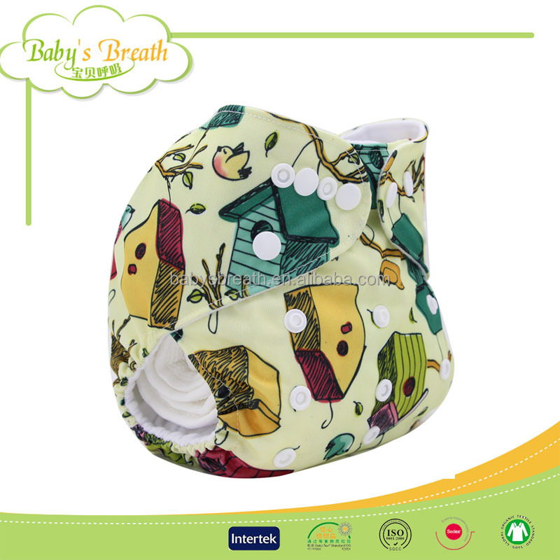 PSF251B Anti-Leak natural adult baby soft terry cloth baby diapers print