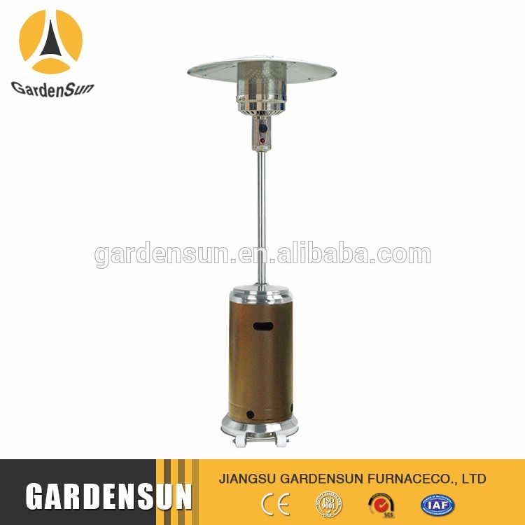 Gardensun elegance stainless steel patio heater with ISO