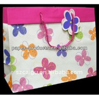 Lucky Flowers Multi-color Paper Bags For Shopping