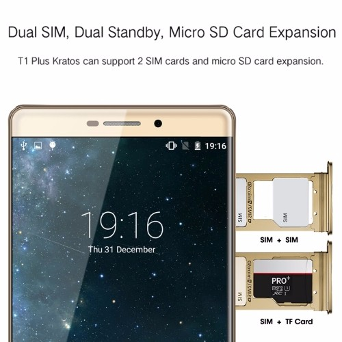free sample VKworld T1 Plus Kratos Network 3G Smartphone Android 5.1 MTK6580A