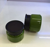 Factory low price green round PET cosmetic bottle