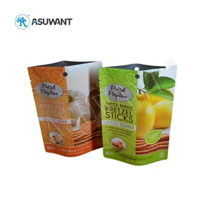 Custom printing zipper smell proof Organic food packaging bags with zipper lock