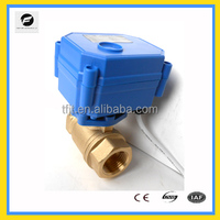 "CWX15Q electric actuator with brass valve 1/2"" DC3-6V 9-24v 220v for water"