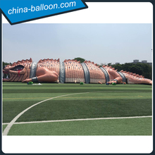 Outdoor giant horrible inflatable dinosaur tunnel 50m lizard haunted house inflatable for events