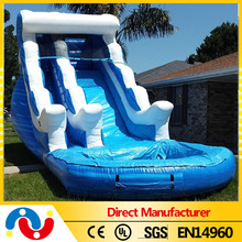 2015 high quality cheap commercial outdoor inflatable slip and slide pool water slide for kids for sale