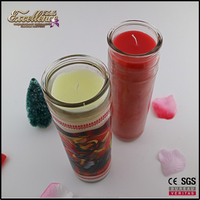 the most popular wholesale 7 days religious glass jar candle for home or party use with high quality and cheap price