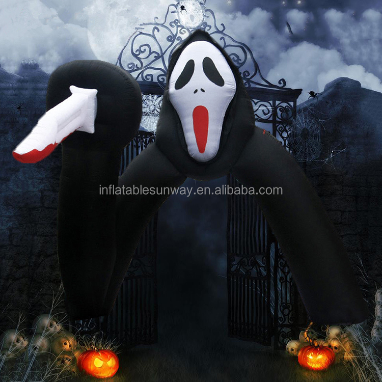 Giant Halloween Inflatable Arch For Party Decoration , Inflatable Arch With Special Shape , Outdoor Halloween Inflatables