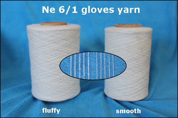 fluffy yarn for working gloves
