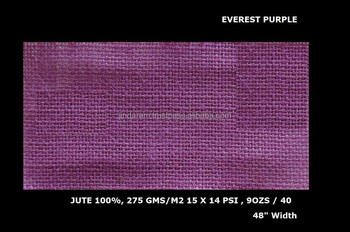 "Everest quality pink color dyed jute laminated fabric 48"" Width"