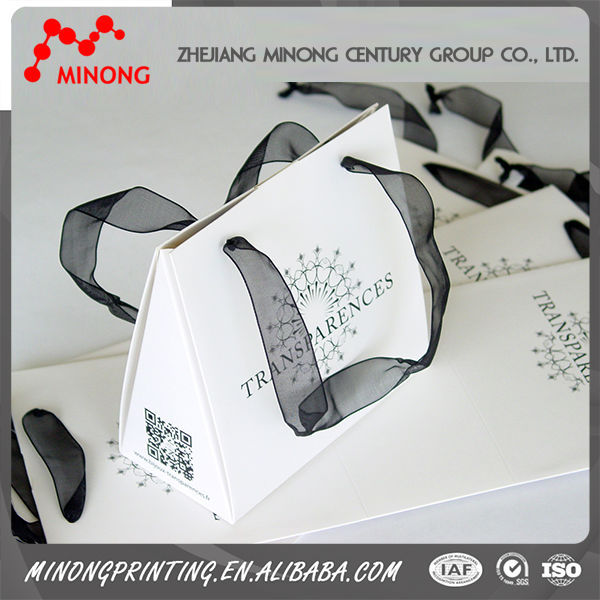 Top sale printed paper ribbon tie gift bags