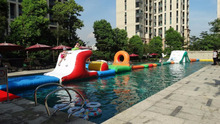 2017 best popular Inflatable Water Obstacle Course Water floating Park Slide Tubes
