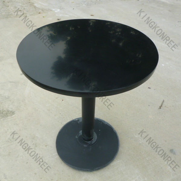 Durable strong solid stone dining table / outdoor marble table for courtyard