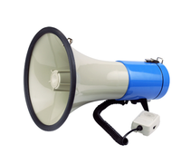 ABS Housing Talk Siren 50W DC12V Blue Car Megaphone PA System Megaphone Option for 16S records