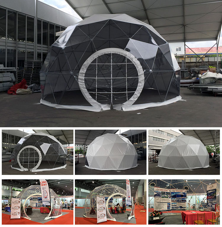 Outdoor portable display structure sphere tent with air conditioner. u003eu003e & Outdoor portable display structure sphere tent with air ...