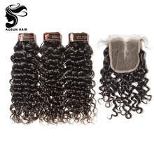 Free Part/Middle Part/Three Part Italian Wave Lace Closure 4x4 Malaysian Closure With Baby Hair